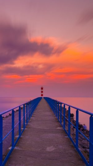 Pier Lighthouse Sea Wallpaper 1080x1920 300x533 - Nature Wallpapers