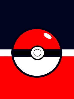 Pokemon Minimal Background HD Wallpaper 300x400 - Red Car Minimal Background HD Wallpaper