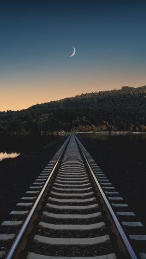 Railway Evening Horizon Wallpaper 1080x1920 300x533 - Nature Wallpapers