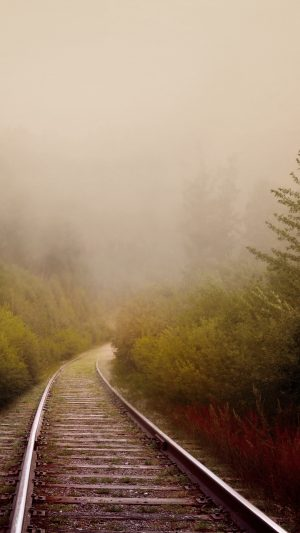 Railway Fog Turn Wallpaper 1080x1920 300x533 - Nature Wallpapers