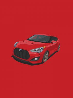 Red Car Minimal Background HD Wallpaper 300x400 - Pokemon Minimal-Background-HD-Wallpaper