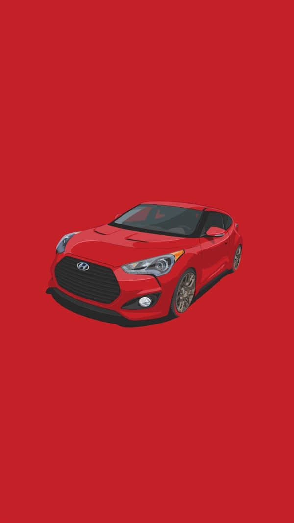 Red Car Minimal Background HD Wallpaper 600x1067 - Red Car Minimal Background HD Wallpaper