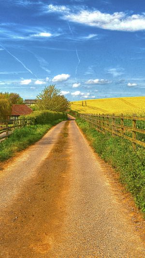 Road Field Fence House Landscape Wallpaper 1080x1920 300x533 - Nature Wallpapers