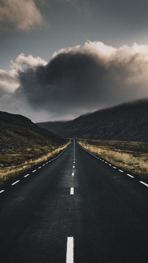 Road Marking Clouds Turn Wallpaper 1080x1920 300x533 - Nature Wallpapers