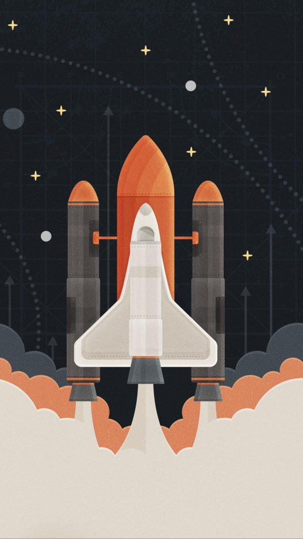 Rocket Minimal Background HD Wallpaper 600x1067 - Rocket Minimal Background HD Wallpaper