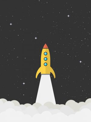 Rocket Space Minimal Background HD Wallpaper 300x400 - Rocket Minimal Background HD Wallpaper