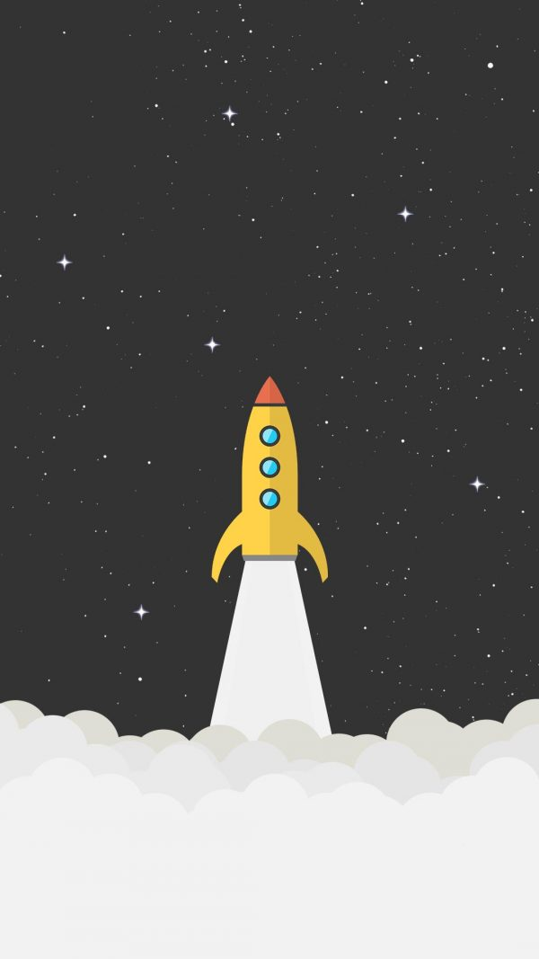 Rocket Space Minimal Background HD Wallpaper 600x1067 - Rocket Space Minimal Background HD Wallpaper