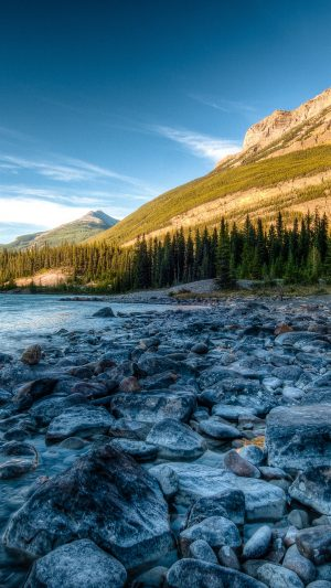 Rocky Mountains River Stones Wallpaper 1080x1920 300x533 - Nature Wallpapers