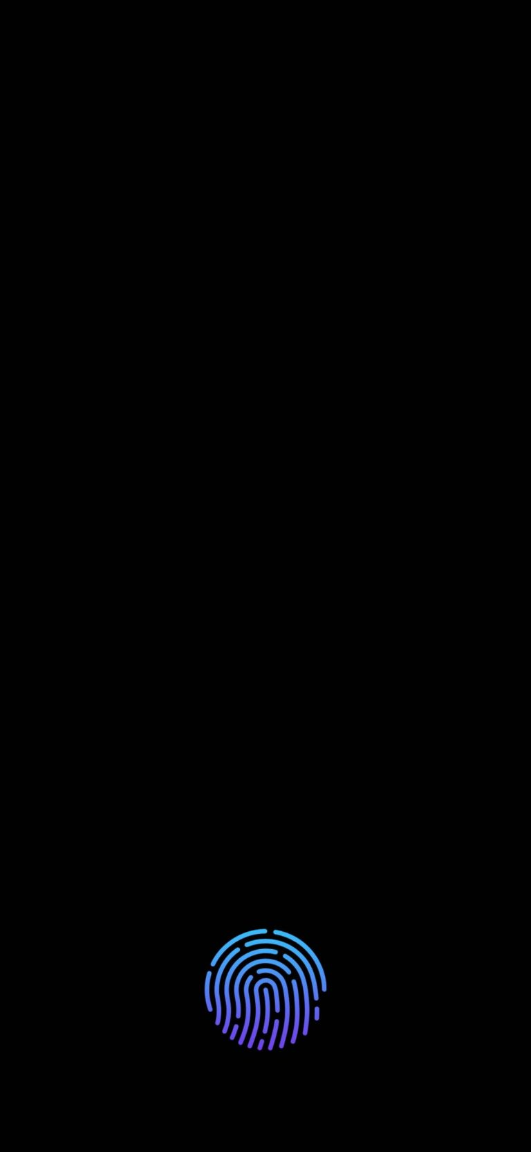 Scan Fingerprint Lock Screen Wallpaper - 1080x2340