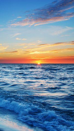 Sea Beach Evening Sun Sunset Wallpaper 1080x1920 300x533 - Nature Wallpapers