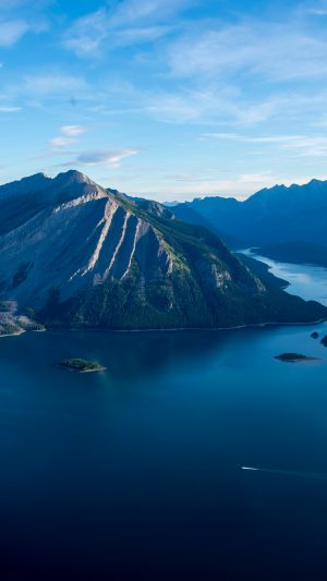 Sea Lake Island Mountains Wallpaper 1080x1920 300x533 - Nature Wallpapers
