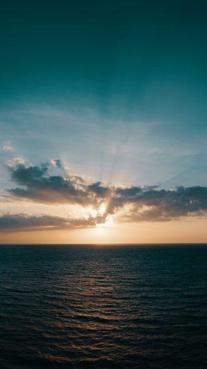 Sea Skyline Sunrise Wallpaper 1080x1920 300x533 - Nature Wallpapers