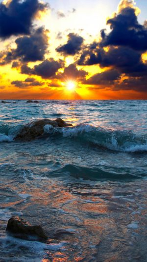 Sea Surf Sunset Stones Wallpaper 1080x1920 300x533 - Nature Wallpapers