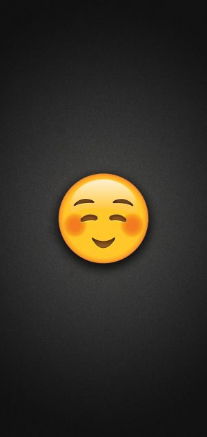 Shyly Smiling Face Emoji Phone Wallpaper 300x633 - Emoji Wallpapers