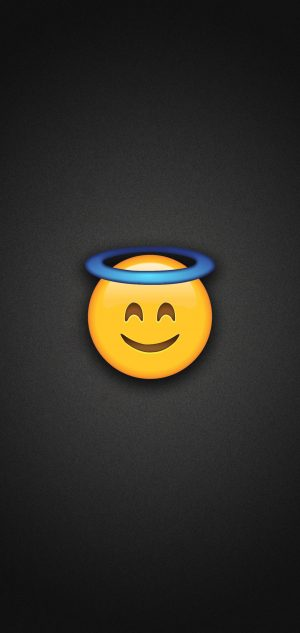 Smiling Face with Halo Phone Wallpaper 300x633 - Emoji Wallpapers
