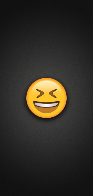 Smiling Face with Tightly Closed eyes Phone Wallpaper 300x633 - Emoji Wallpapers