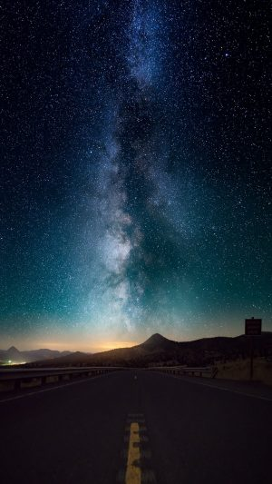 Starry Sky Horizon Night Road Wallpaper 1080x1920 300x533 - Nature Wallpapers