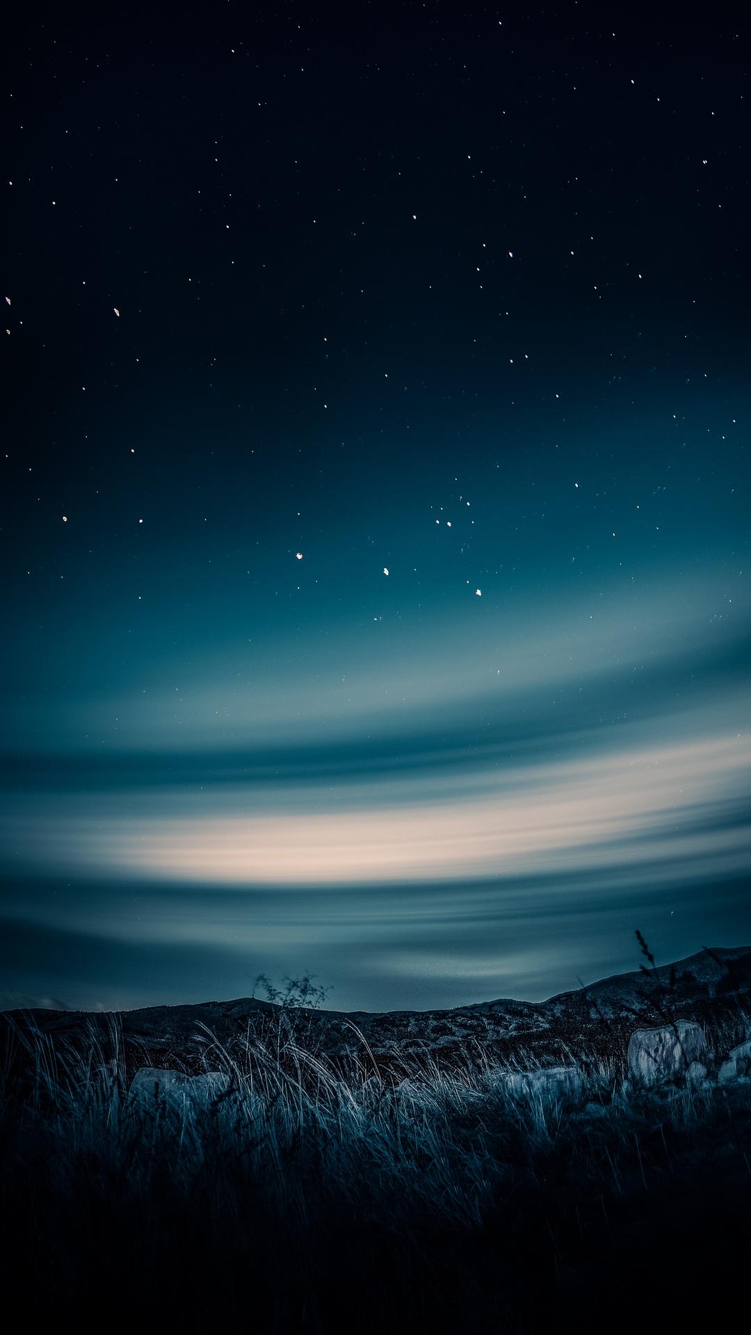 Starry Sky Horizon Night Wallpaper - [1080x1920]