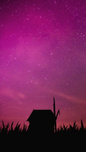 Starry Sky Mill Outline Wallpaper 1080x1920 300x533 - Nature Wallpapers