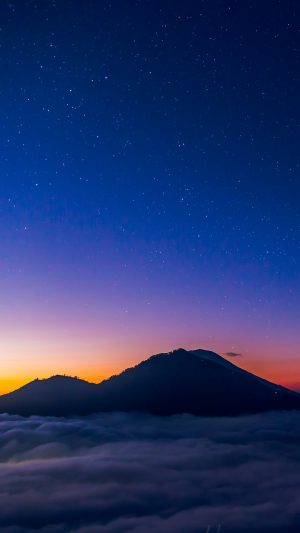Starry Sky Mountains Clouds Night Wallpaper 1080x1920 300x533 - Nature Wallpapers