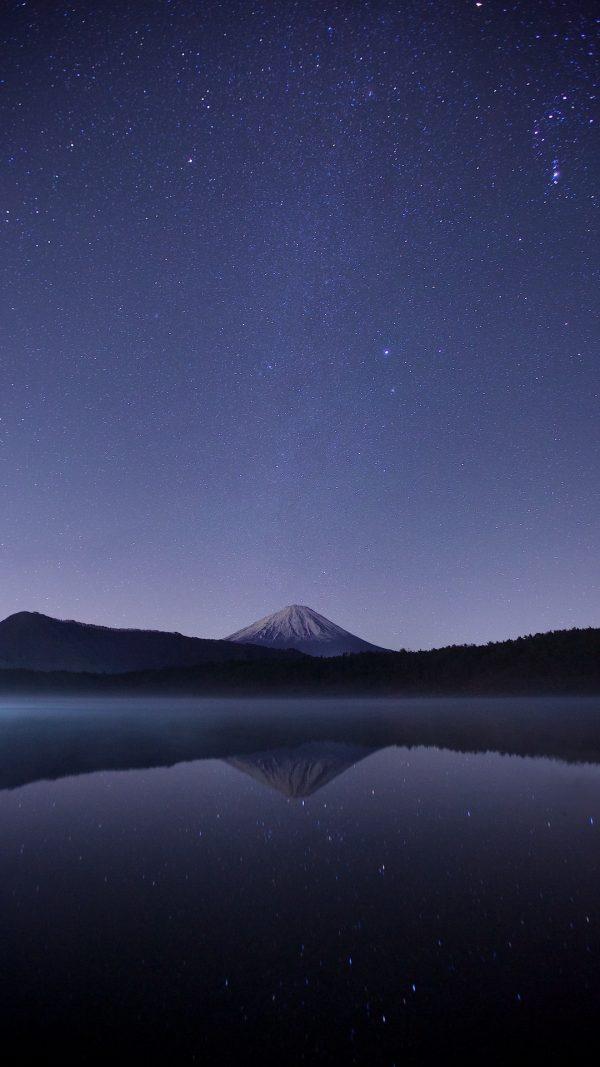 Starry Sky Mountains Horizon Night Wallpaper 1080x1920 600x1067 - Starry Sky Mountains Horizon Night Wallpaper - [1080x1920]