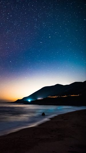 Starry Sky Mountains Night Sea Stars Wallpaper 1080x1920 300x533 - Nature iPhone Wallpapers