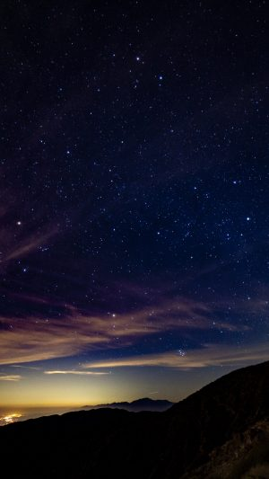 Starry Sky Mountains Stars Night Wallpaper 1080x1920 300x533 - Nature Wallpapers