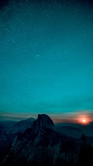 Starry Sky Mountains Sunrise Wallpaper 1080x1920 300x533 - Nature Wallpapers