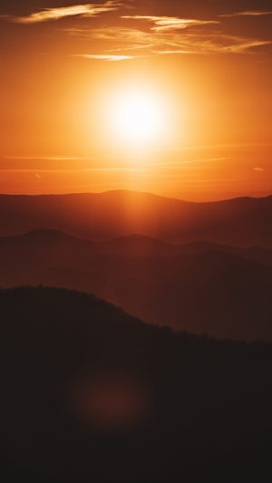 Sun Sunset Hills Wallpaper 1080x1920 300x533 - Nature Wallpapers
