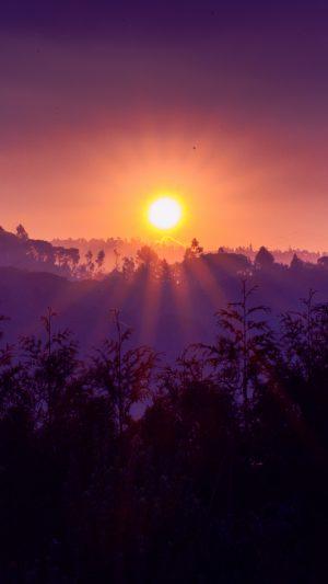 Sun Sunset Mountains Wallpaper 1080x1920 300x533 - Nature Wallpapers
