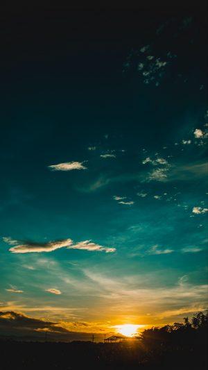 Sunset Horizon Sky Wallpaper 1080x1920 300x533 - Nature Wallpapers