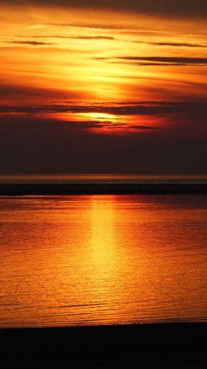 Sunset Sea Skyline Wallpaper 1080x1920 300x533 - Nature Wallpapers