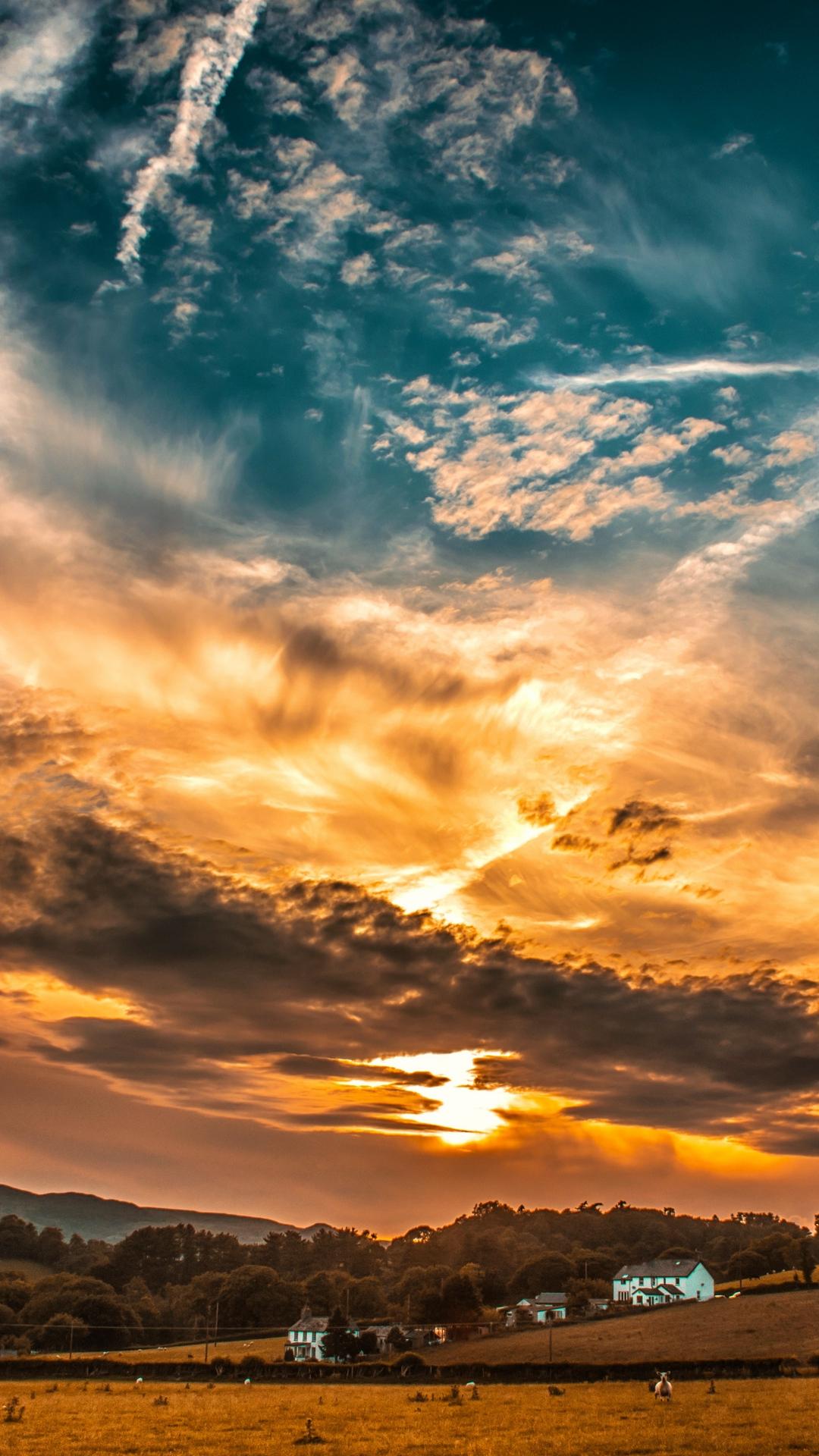Sunset Sky Clouds Wallpaper 1080x1920