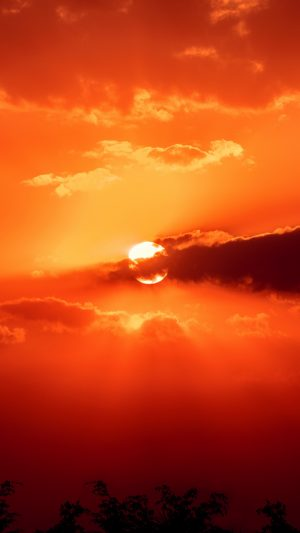 Sunset Sun Clouds Wallpaper 1080x1920 300x533 - Nature Wallpapers