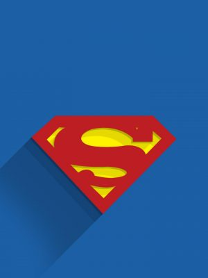 Superman Logo Minimal Background HD Wallpaper 300x400 - Superman Black Minimal Background HD Wallpaper (2)