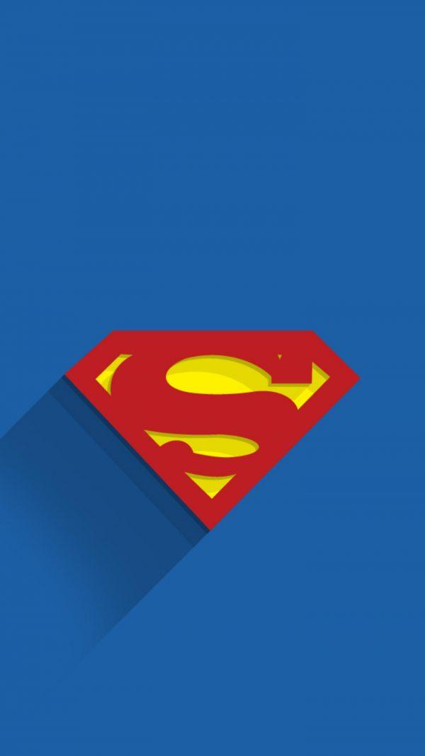 Superman Logo Minimal Background Hd Wallpaper