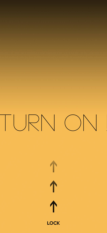Swipe Up Turn On Lock Screen Wallpaper 1080x2340