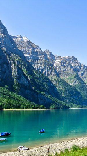 Switzerland Glarus Mountain Lake Beach Wallpaper 1080x1920 300x533 - Nature Wallpapers