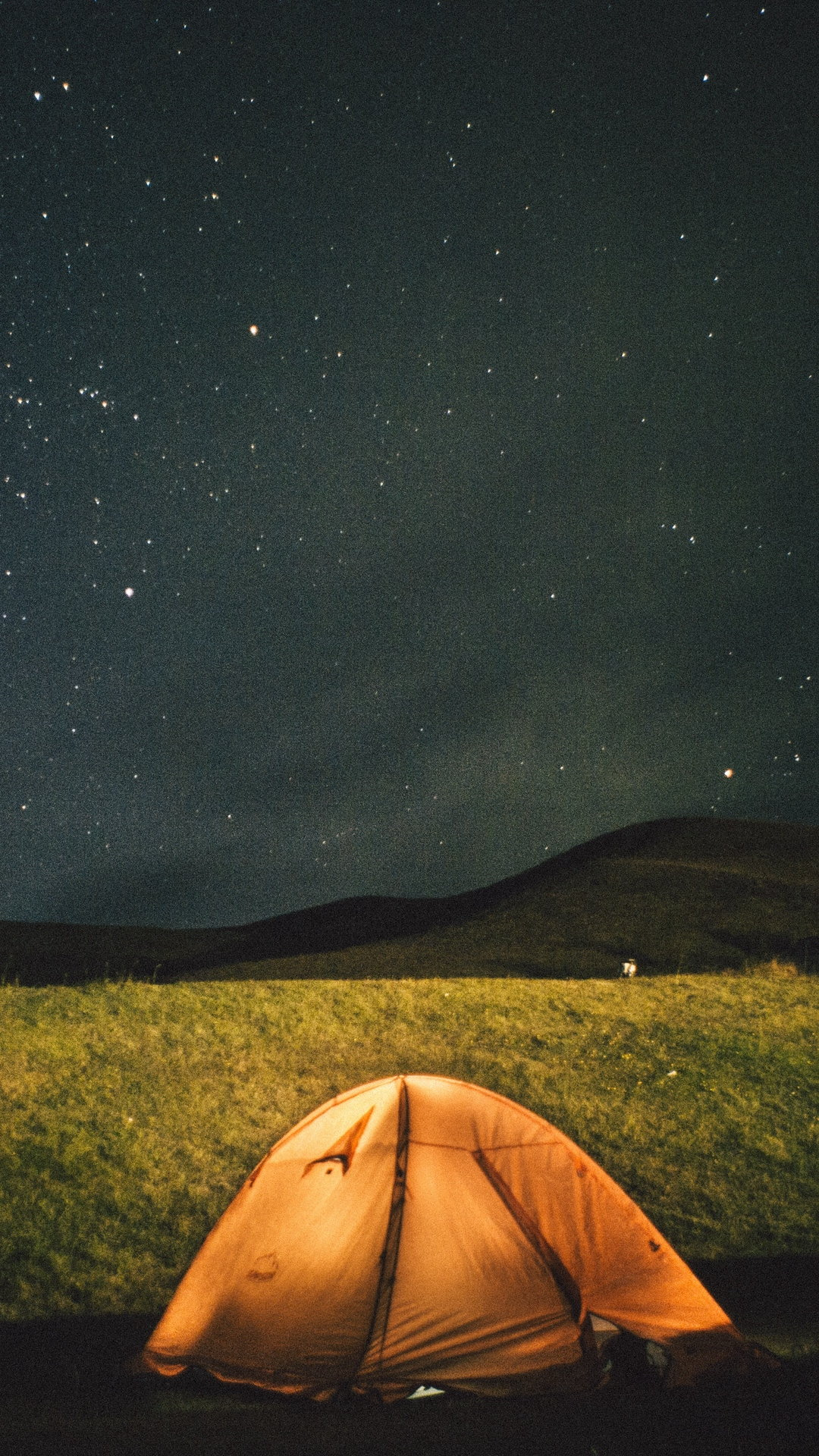 Tent Starry Sky Night Wallpaper 1080x1920