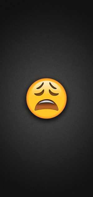 Tired Face Emoji Phone Wallpaper 300x633 - Emoji Wallpapers