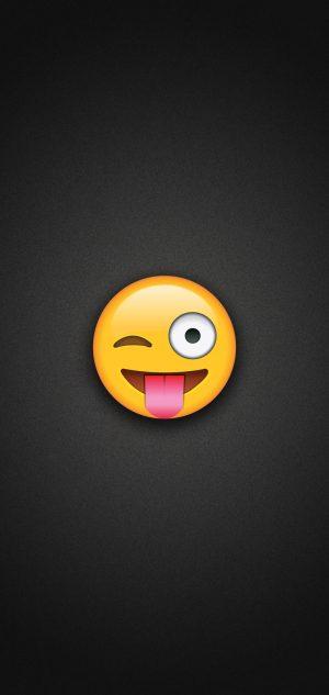 Tongue Out Emoji with Winking Eye Phone Wallpaper 300x633 - Emoji Wallpapers