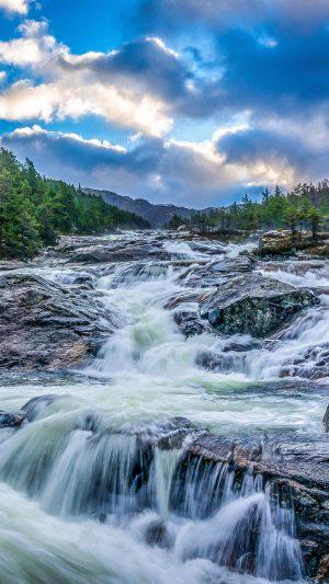 Waterfall Stones Rocks Landscape Night Trees Wallpaper 1080x1920 300x533 - Nature Wallpapers