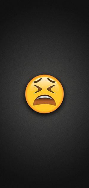 Weary Face Emoji Phone Wallpaper 300x633 - Emoji Wallpapers