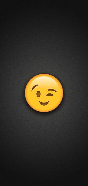 Wink Emoji Phone Wallpaper 300x633 - Worried Face Emoji Phone Wallpaper