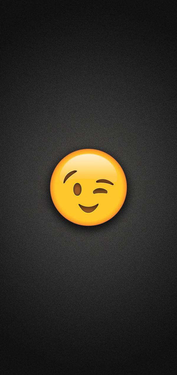 Wink Emoji Phone Wallpaper 600x1267 - Wink Emoji Phone Wallpaper