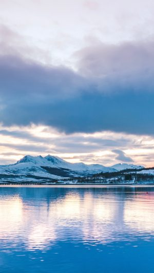 Winter Lake Mountains Wallpaper 1080x1920 300x533 - Nature Wallpapers