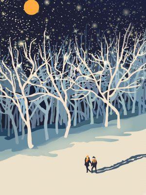 Winter Minimal Background HD Wallpaper 300x400 - iPhone Minimalist Wallpapers