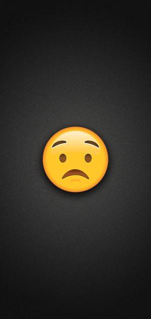 Worried Face Emoji Phone Wallpaper 300x633 - Zipper Mouth Face Emoji Phone Wallpaper