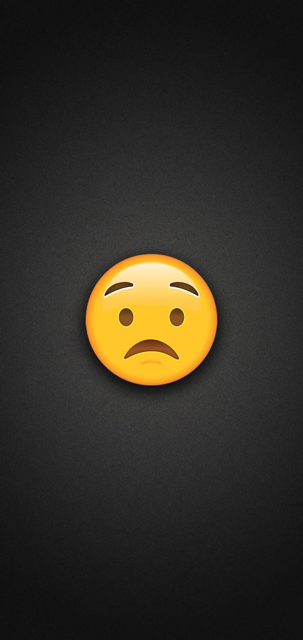 Worried Face Emoji Phone Wallpaper 600x1267 - Worried Face Emoji Phone Wallpaper