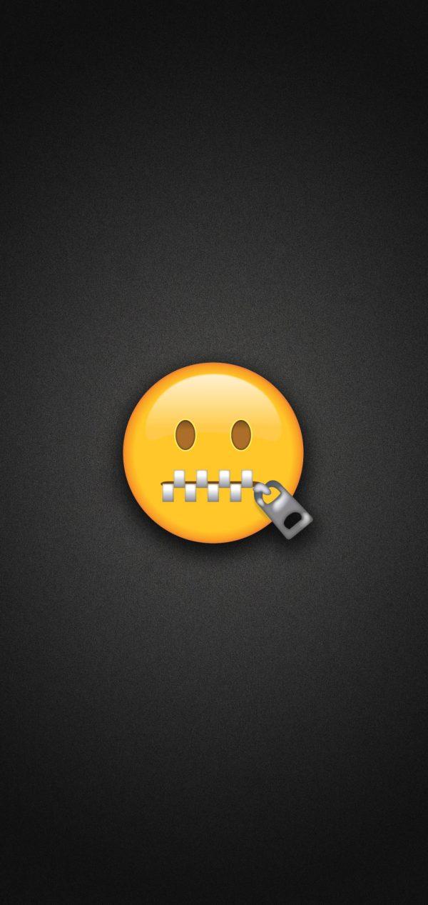 Zipper Mouth Face Emoji Phone Wallpaper 600x1267 - Zipper Mouth Face Emoji Phone Wallpaper